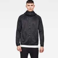 Strett Slim Hooded Zip Thru Sweater | Dk Black | G-Star RAW®