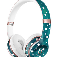 Green and White Watercolor Polka Dots Full-Body Skin Kit for the Beats by Dre Solo 3 Wireless Headphones