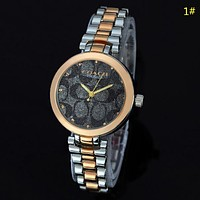 COACH New fashion dial pattern couple quartz wristwatch watch 1#
