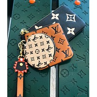 LV CRAFTY TRIO new women's storage bag coin purse three-piece set