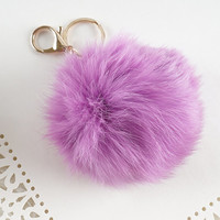 Pom Pom Keychain, Super Soft Furry Keychain, Furball Keychain, FREE SHIPPING TO U.S, Furry Ball Keychain, Cute Colorful Pom Pom