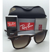 New Ray-Ban Sunglasses RB 4221 865/13 50-19 Tortoise Rubber Frame w/ Brown Fade