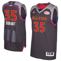 Men's Western Conference Kevin Durant  Charcoal 2017 NBA All-Star Game Swingman Jersey