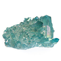 Aqua aura quartz crystal cluster 02 - The Crystal Healer