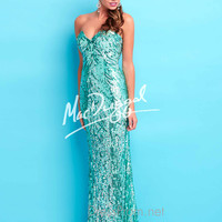 Strapless Sweetheart Formal Prom Gown By Mac Duggal Flash 4123L