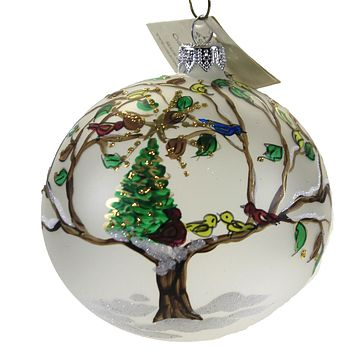 Christina's World Christmas In A Tree Ornament Blue Bird Cardinal Red - TRA450