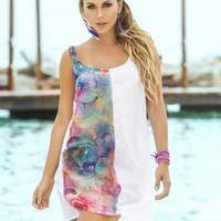 Floral Watercolors Beach Dress & Cover-Up