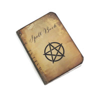 Mini Pentagram Notebook, Halloween Journal, Witch's Spell Book, Wiccan Jotter, Tiny Book of Shadows, To Do Notebook