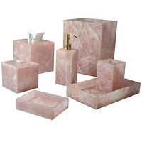 Taj Rose Quartz Bath Accessories by Mike + Ally