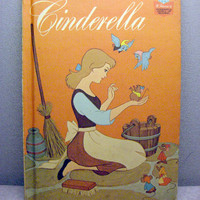 1974 Cinderella Vintage Disney Book by VintageWoods on Etsy