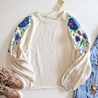 Cozy Embroidered Sweatshirt