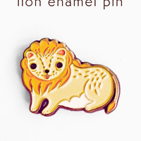 Lion Pin - Tiny Lion Pin - Lion Enamel Pin by boygirlparty