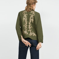 GOLDEN EMBROIDERED OVERSHIRT