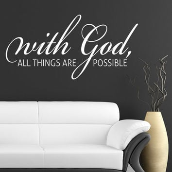 Christian Wall Art Home Decor Decal Quote
