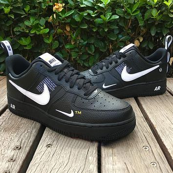Onewel Nike Air Force 1 Classic Hot Sale Women Men Leisure Flat Sport Running Shoes Sneakers Black