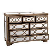 Lillian Champagne Mirrored 9-Drawer Dresser