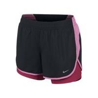 """The Nike 4"""" Printed Racer 2-in-1 Women's Running Shorts."""