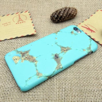 Mint Marble Best Protection iPhone 7 7Plus & iPhone 6s 6 Plus Case Personal Tailor Cover + Gift Box