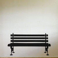 Park Bench Wall Decal Home Decor. item #889