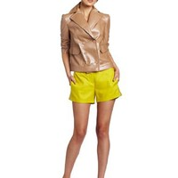 Robert Rodriguez Women's Coated Double Breasted Cropped Jacket