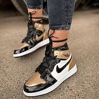 NIKE Air Jordan 1 ASG AJ1 Patent Leather Sneaker