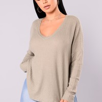 Mina Lounge Tunic  - Smoke Green
