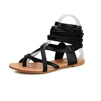 Shoes Women Flats Sandals Classic Design Gladiator Sandals Women Bohemia Lace-Up Sandals Women footwear