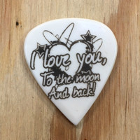 To The Moon Guitar Pick