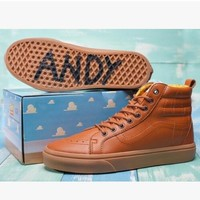 VANS ANDY Canvas Sport Shoes High tops shoes