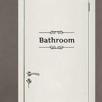 bathroom door Entrance stickers shower room decoration wall decals For Shop Office Home Cafe Hotel