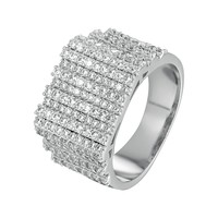 Designer Solitaire Bars Men's Hip Hop Wedding Ring