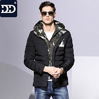 2017 Winter Thick Padded Parka Men Jacket Coat Wadded Long Hooded Casual Warm Snow Windbreaker Overcoat Male Jackets