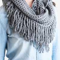 The Infinite Infinity Scarf Grey