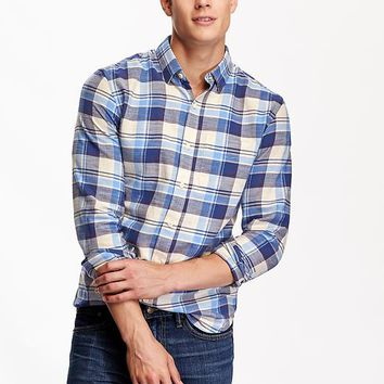 Old navy mens slim fit flannel shirt from old navy for Mens slim fit flannel shirt