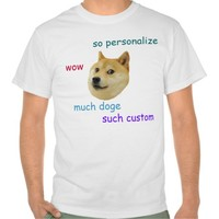 Doge Personalized T-shirt (all colors/styles)