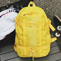 Supreme Fashion Women Men School Backpack Travel Bag