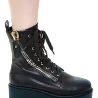 UNIF Trench High Boot Black