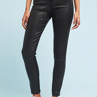 AG The Farrah High-Rise Skinny Leather Jeans