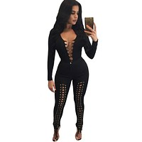 Sexy Lace up Bodysuit