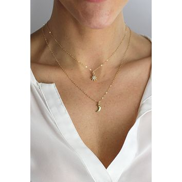 Petite Lunar Necklace - Christine Elizabeth Jewelry