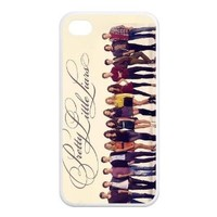 PhoneCaseDiy Cheap Cover Hot TV Movie Series Pretty Little Liars Protective TPU Case For Iphone 4 4s Ip4-AX50641