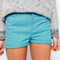 Brave Soul Denim Shorts With Turn Up Cuff at asos.com