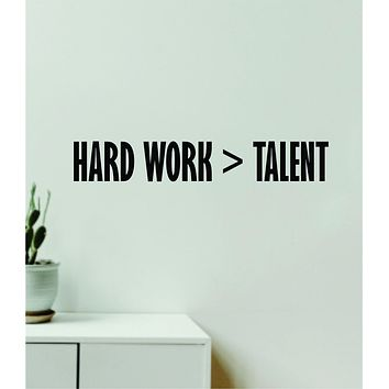 Hard Work is Greater Than Talent Quote Wall Decal Sticker Vinyl Art Decor Bedroom Room Girls Inspirational Motivational Gym Fitness Health Exercise Lift Beast Sports