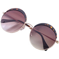 Leopard Pattern Wayfarer Style Multi-Color Sunglasses