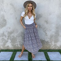 Splash of Life Grey Maxi Skirt