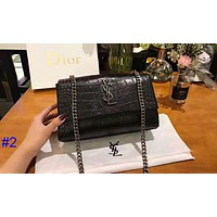 YSL new crocodile pattern chain package difference bag female shoulder diagonal package #2