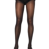 Opaque Waist Tights Plus Size