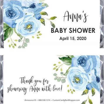 Blue Baby Shower Candy Bar Wrappers