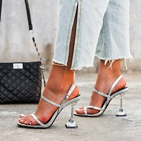 Transparent Perspex Crystal High Heels