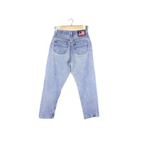 "90s RALPH LAUREN POLO high waisted jeans - vintage 1990s  - flag logo - womens 6 x 32 // 28"" waist"